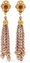 Ben-Amun Gold-Plated Faux Pearl, Bead, Crystal And Stone Earrings
