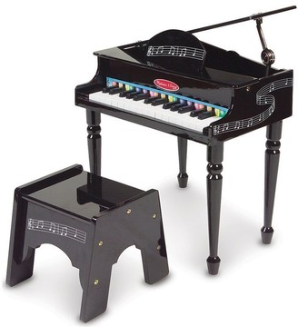 Melissa & Doug Learn-To-Play Classic Grand Piano With 30 Keys, Color-Coded Songbook, and Non-Tip Bench