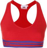 Gcds striped sports bra