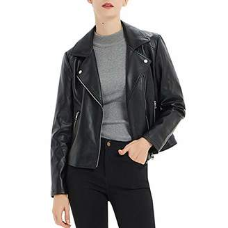 CGTL Women's Faux Leather Motorcycle Jacket