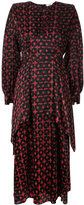 Fendi embroidered flared dress - women - Silk Crepe - 40