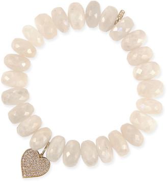 Sydney Evan 14k Diamond Heart & Moonstone Bracelet