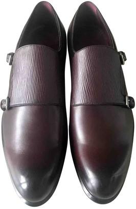 Louis Vuitton Burgundy Leather Lace ups
