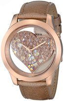 GUESS GUESS? Women's U0113L3 Beige Leather Quartz Watch with Dial