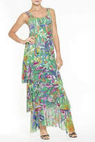 Elena Wang Maxi Floral Dress