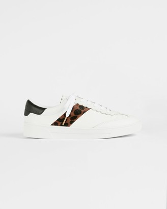 Ted Baker Retro Imitation Leopard Scallop Trainer