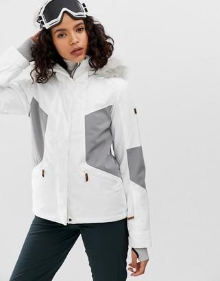 Roxy Atmosphere ski jacket in white