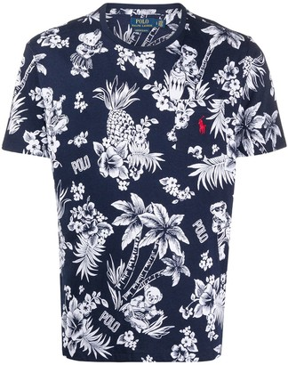 Polo Ralph Lauren tropical print T-shirt