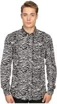 Just Cavalli Slim Fit Zebra Vibe Print Shirt
