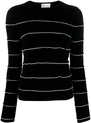 RED Valentino Ruffle Trim Jumper