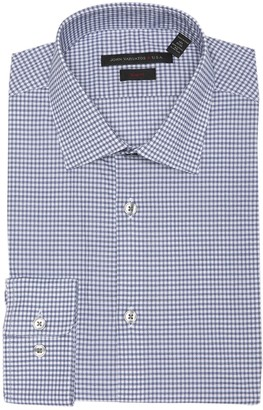 John Varvatos Dot Check Slim Fit Dress Shirt