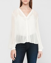Express Pleated Balloon Sleeve Shirt
