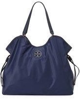 Tory Burch Slouchy Nylon Tote Bag, Tory Navy