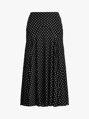 Ralph Lauren Ralph Varizi Peasant Polka Dot Skirt, Black/White