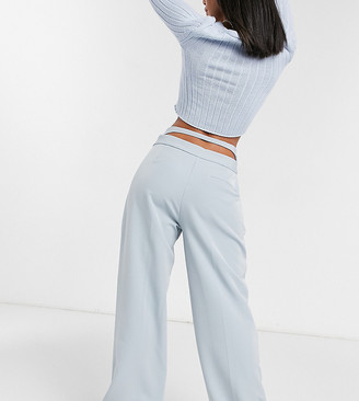 Collusion loose fit tailored pants with cut-out detail
