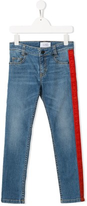 Givenchy Kids side-stripe skinny jeans