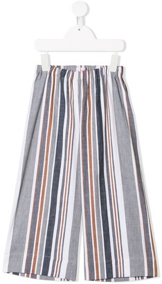 Il Gufo Striped Wide Leg Trousers