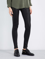 AG Jeans Skinny mid-rise leather leggings