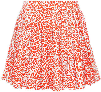 Maje Flared Stretch-crepe Mini Skirt