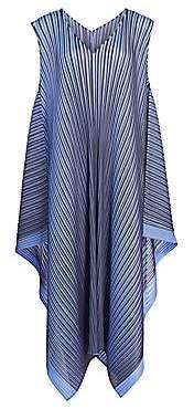 Pleats Please Issey Miyake Women's Alt Bright Sleeveless Pleated Midi Dress