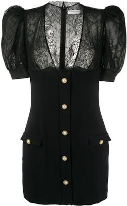 Alessandra Rich Lace-Panelled Mini Dress