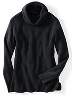 Classic Women's Petite Cotton Shaker Cowl Neck Sweater-Camelot Blue