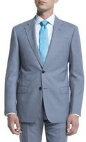 Armani Collezioni G-Line Melange Solid Two-Piece Suit, Light Blue