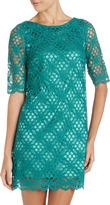 Jax A-Line Crochet Dress, Emerald