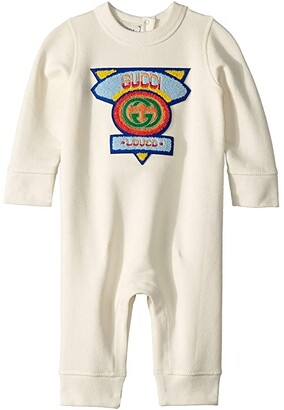 Gucci Kids Sleep Suit 540763XJAAS (Infant) (Multi White) Boy's Jumpsuit & Rompers One Piece