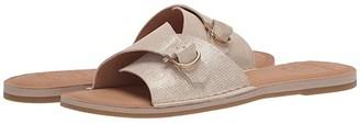Sperry Seaport Metallic Leather Slide Sandal (Platinum) Women's Shoes