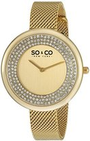 SO&CO New York Women's 'SoHo' Quartz Metal and Stainless Steel Casual Watch, Color:Gold-Toned (Model: 5259.2)