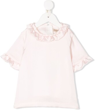 Hucklebones London Ruffled-Detail Short-Sleeved Top