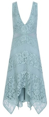 Dorothy Perkins Womens **Little Mistress Blue Lace Midi Prom Dress, Blue