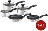 Tefal Comfort Max 5-Piece Pan Set - Stainless Steel