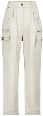 Balmain High-rise straight cargo jeans