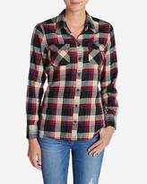 Eddie Bauer Women's Stine's Favorite Flannel Mixed Plaid Shirt
