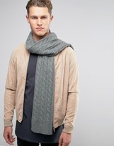 Selected Homme Scarf In Cable Knit