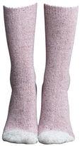 Lemon Tootsie Roll Tip Wool Blend Crew Socks