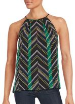 1 STATE Patterned Sleeveless Top