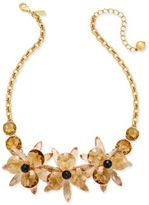 Kate Spade Gold-Tone Crystal Flower Collar Necklace