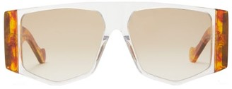 Loewe Masque Acetate Sunglasses - Brown