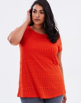 DP Curve Geo Lace Front Tee