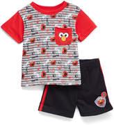 Children's Apparel Network Elmo Red Pocket Tee & Shorts Set - Infant