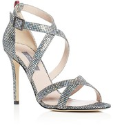 Sarah Jessica Parker Strut Glitter Strappy Sandals