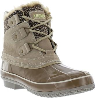 Khombu Waterproof Leather Lace Up Boots - Lola