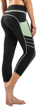 New Mincc Sports Leggings - Printed Hight Waist Leggings - Tailored Sports Pants for Women (Silver Grey - Capri M)