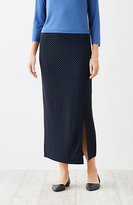 J. Jill Wearever Ottoman-Knit Striped Skirt