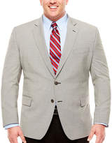 STAFFORD Stafford Year-Round Stretch Black White Houndstooth Sport Coat-Big and Tall