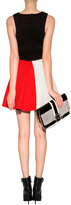 Fausto Puglisi Wool Colorblock Dress in Red/Ivory