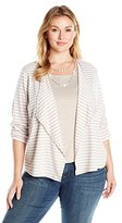 Alfred Dunner Women's Plus Size Stripe 3fer Knit with Necklace